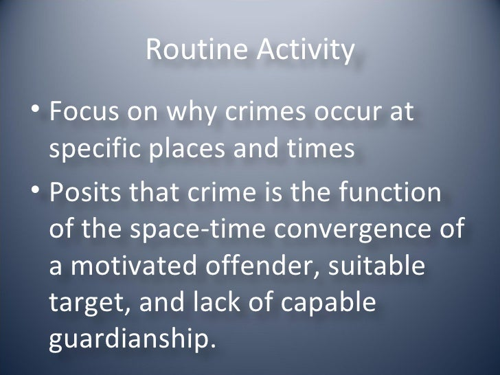 explaining crime The unit is designed to help students understand crime and to be able to critically analyse and evaluate the various facets of crime find out more.