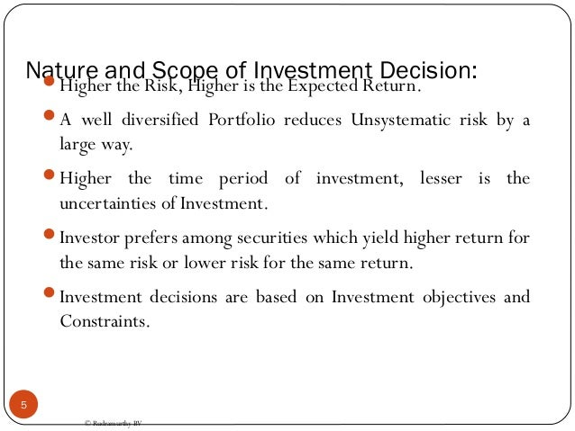 scope of investment management