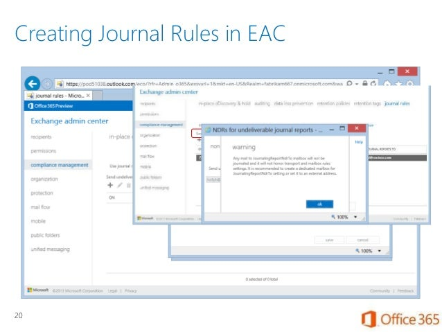 Security and compliance for exchange online in office 365 - Office 365 exchange online ...