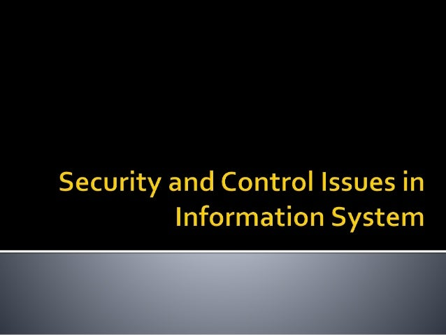 types of security measures in information systems
