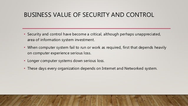 Security And Control In Management Information System