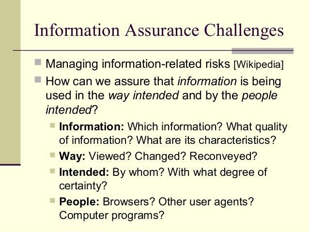 Security and information assurance Slide 3