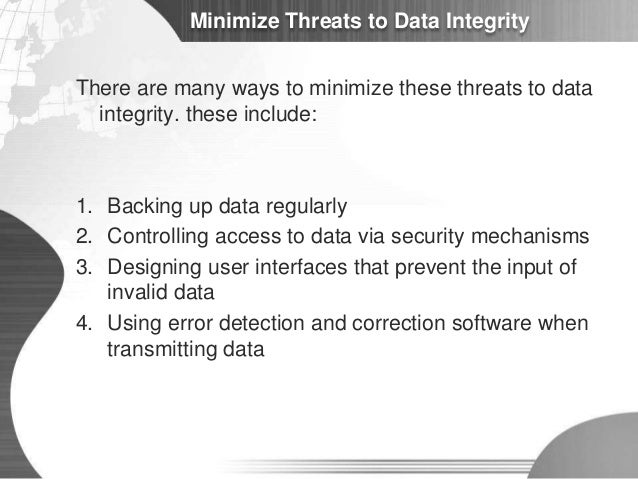 Security And Integrity Of Data