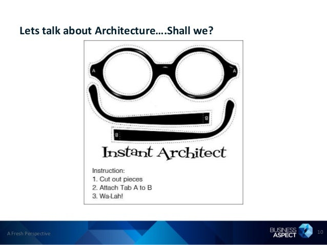 Lets talk about Architecture….Shall we?A Fresh Perspective                            10