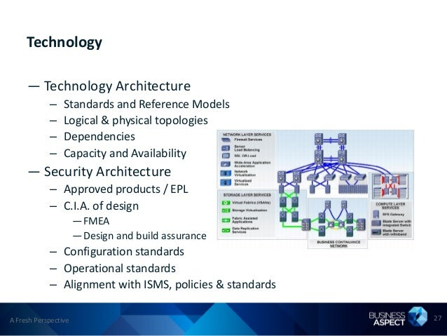 Technology     — Technology Architecture            –    Standards and Reference Models            –    Logical & physical...