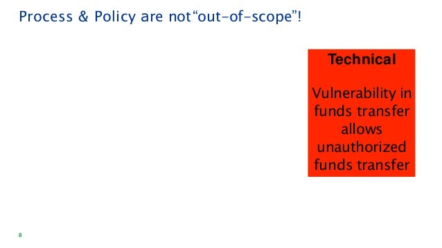 """8 Technical Vulnerability in funds transfer allows unauthorized funds transfer Process & Policy are not""""out-of-scope""""!"""