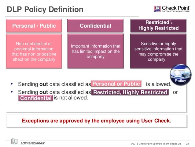 Check point defining your security blueprint 27 dlp policy definition personal malvernweather Images