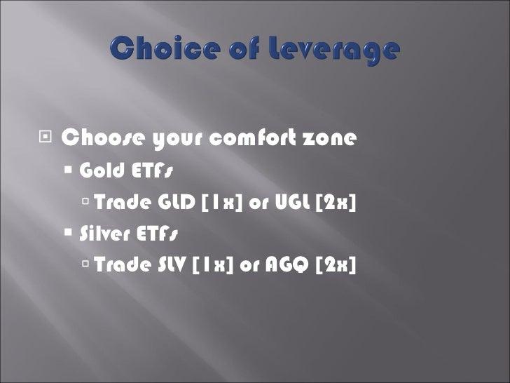 <ul><li>Choose your comfort zone </li></ul><ul><ul><li>Gold ETFs </li></ul></ul><ul><ul><ul><li>Trade GLD [1x] or UGL [2x]...