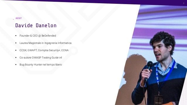 Security by design: la cyber security per un progetto innovativo Slide 2