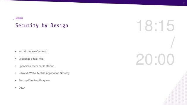 Security by design: la cyber security per un progetto innovativo Slide 3