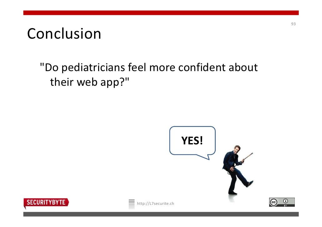 """93Conclusion """"Do pediatricians feel more confident about   their web app?""""                                           YES! ..."""