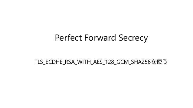 Perfect Forward Secrecy TLS_ECDHE_RSA_WITH_AES_128_GCM_SHA256を使う