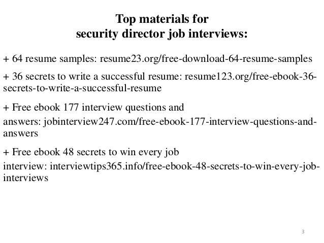 security director resume sample pdf ebook free download