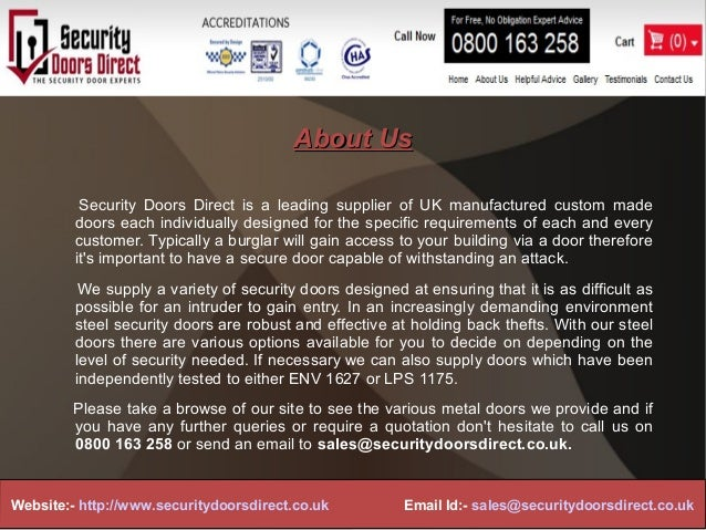 ... 2. About UsAbout UsSecurity Doors Direct ... & Security doors direct ppt