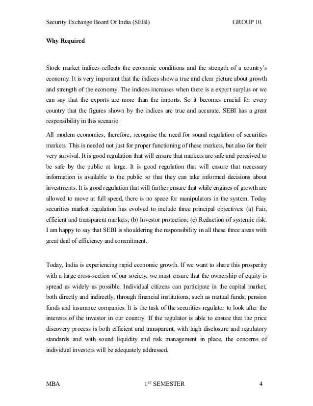emergence and legal status of the securities exchange board of india Status of rajiv gandhi equity savings scheme legal framework securities and exchange board of india.