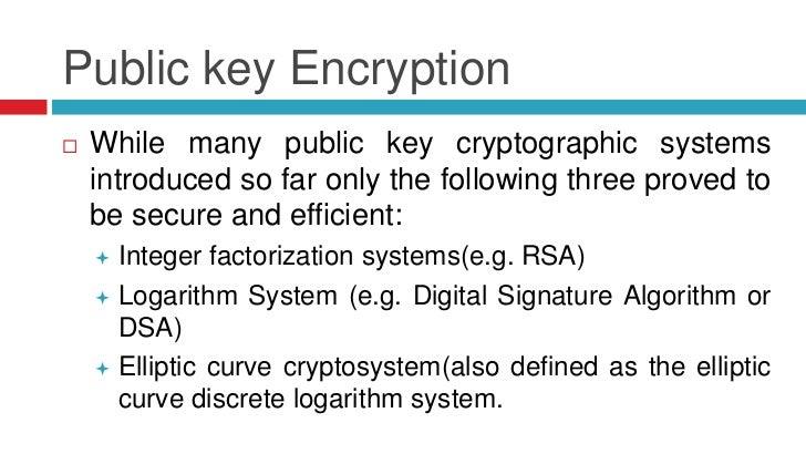 Discrete logarithm elliptic curve cryptography algorithm