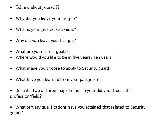 Security guard interview questions and answers pdf thecheapjerseys Choice Image