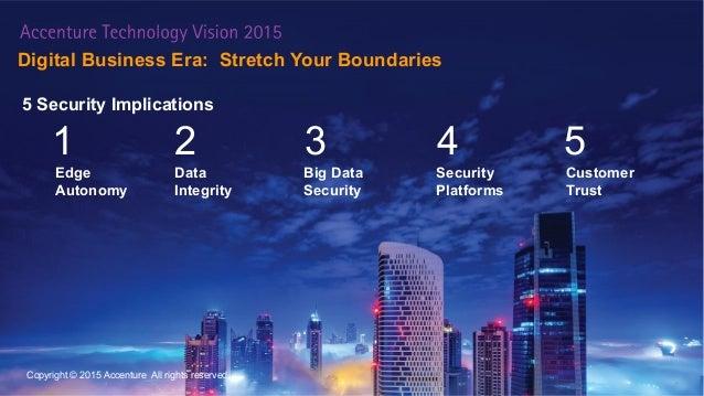 Digital Business Era: Stretch Your Boundaries 14 Edge Autonomy Data Integrity Big Data Security Security Platforms Custome...
