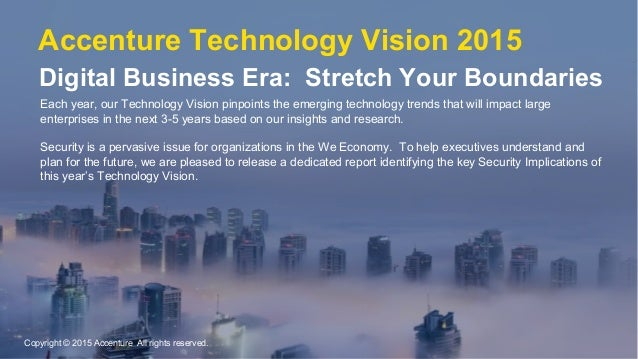 Each year, our Technology Vision pinpoints the emerging technology trends that will impact large enterprises in the next 3...