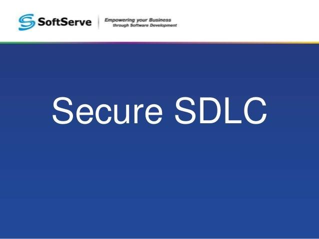 Secure SDLC