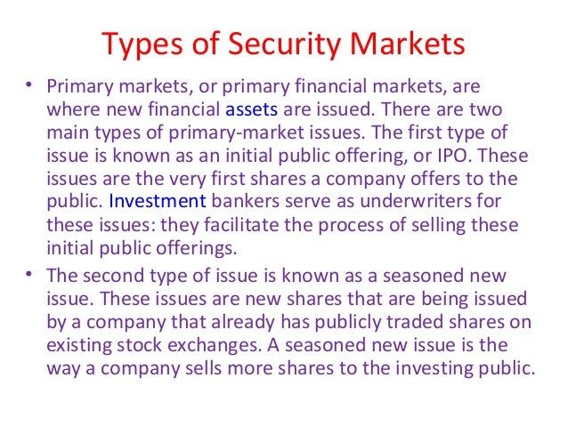 An ipo is known as what type of market transaction