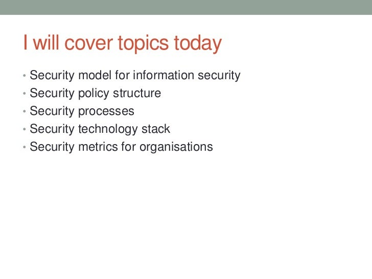 Security models for security architecture Slide 3
