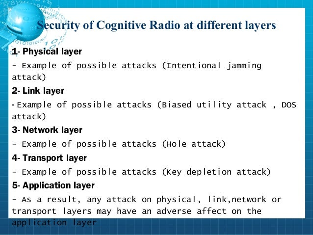 cognitive network security On the security of cognitive radio networks role of physical-layer security in cognitive radio networks consider a cognitive wiretap radio network.