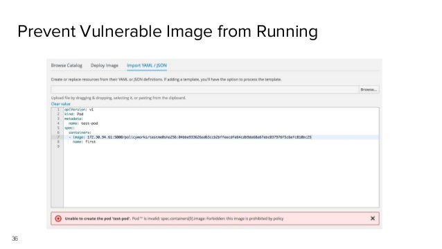 36 Prevent Vulnerable Image from Running