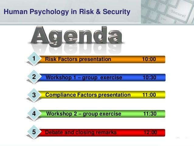 """""""Security on the Brain"""" Security & Risk Psychology Workshop Nov 2013 Slide 2"""