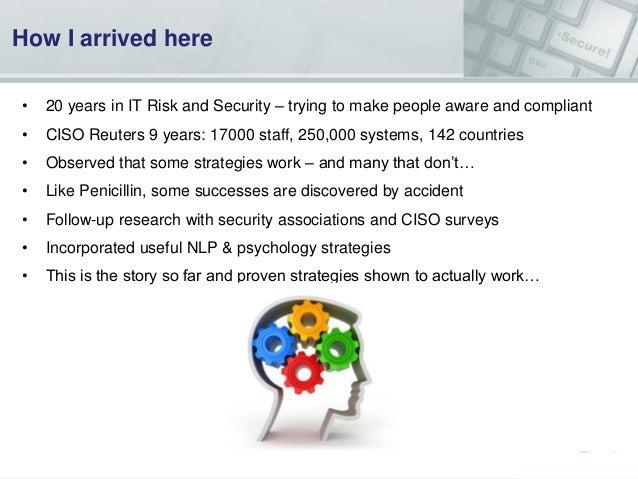 """""""Security on the Brain"""" Security & Risk Psychology Workshop Nov 2013 Slide 3"""