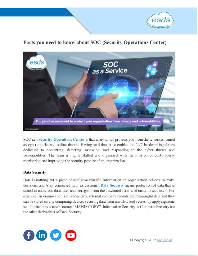 Facts You Need To Know About Soc Security Operations Center