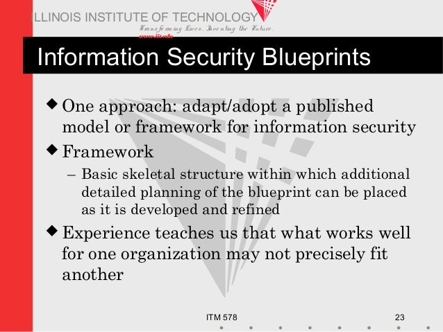 Transfo rm ing Live s. Inve nting the Future . www.iit.edu ITM 578 23 ILLINOIS INSTITUTE OF TECHNOLOGY Information Securit...