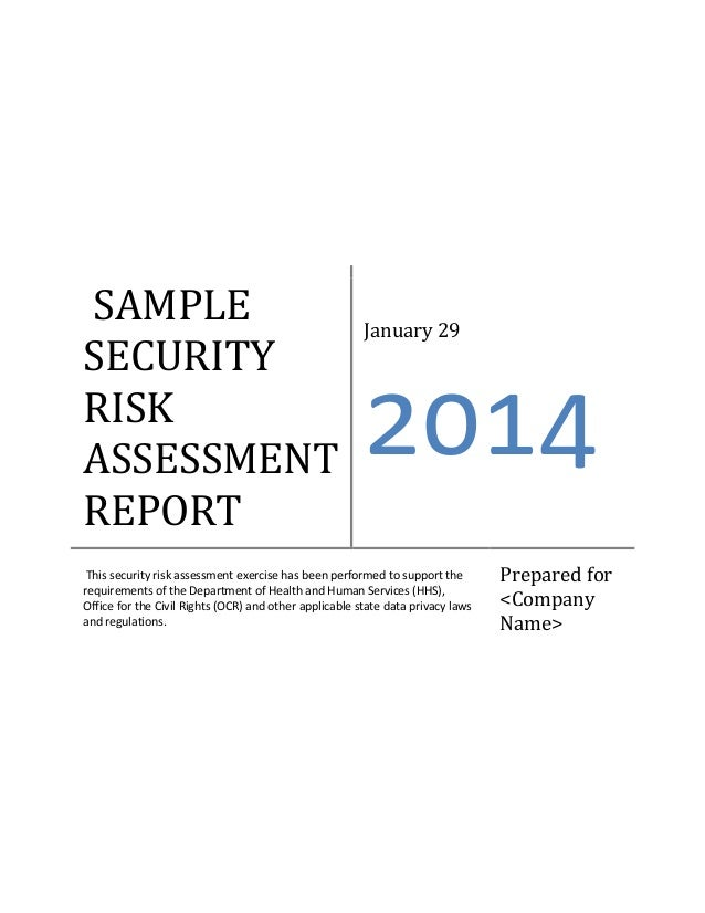 Ehr Meaningful Use Security Risk Assessment Sample Document