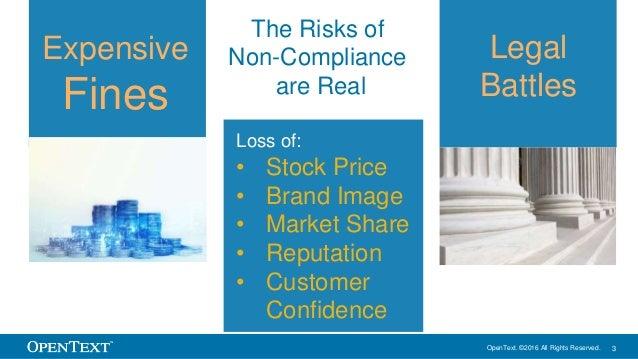 OpenText SlideShare – Mitigate Compliance Risks through secure information exchange Slide 3