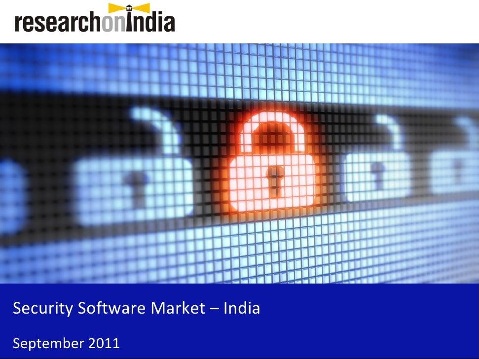 Security Software Market – IndiaSeptember 2011