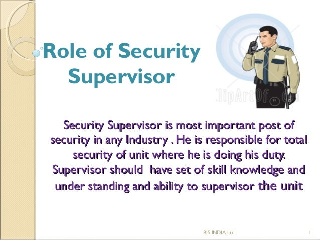 Sop Of Security Supervisor
