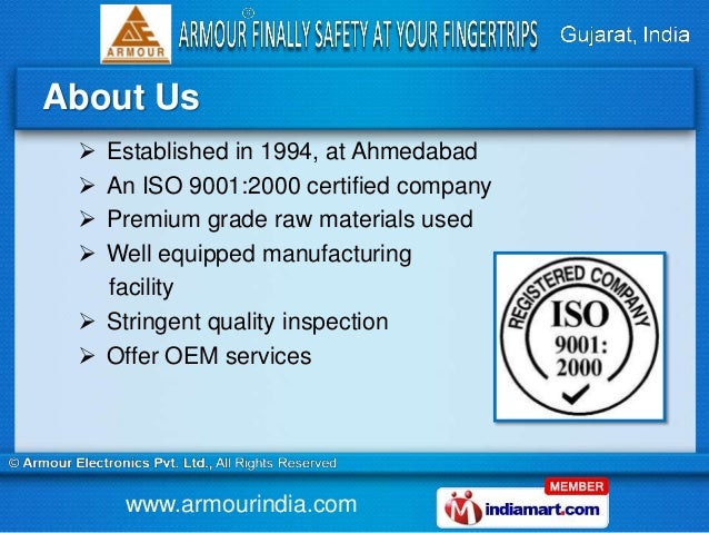 Security Systems by Armour Electronics Private Limited, Ahmedabad Slide 2