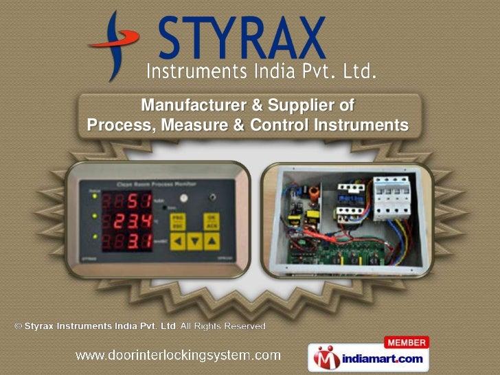 Manufacturer & Supplier ofProcess, Measure & Control Instruments
