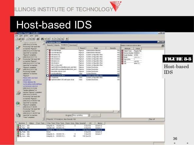 ITM 578 36 ILLINOIS INSTITUTE OF TECHNOLOGY Host-based IDS Host-based IDS FIGURE 8-8