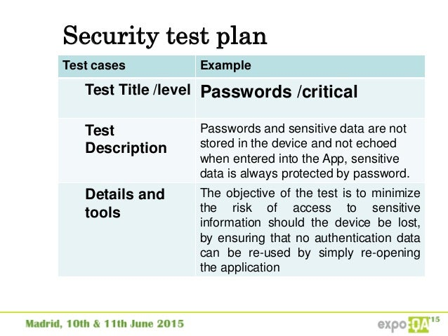 Security testing in mobile applications