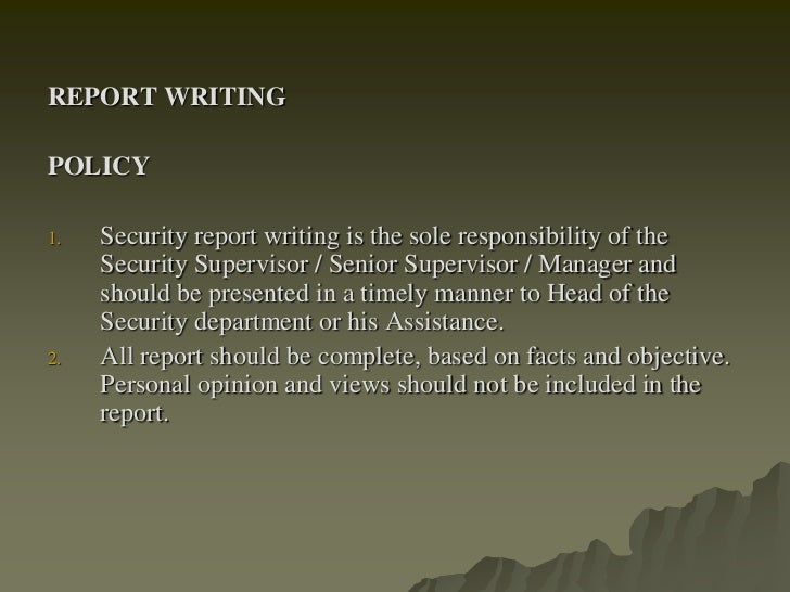 Report Writing Procedures Scribd