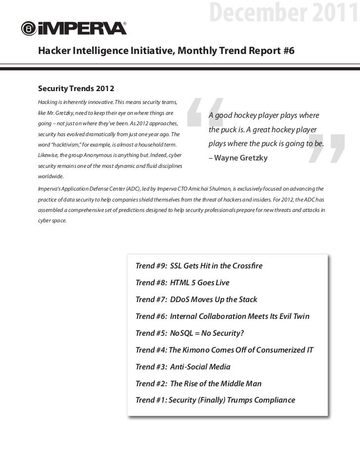 December 2011Hacker Intelligence Initiative, Monthly Trend Report #6                                                      ...