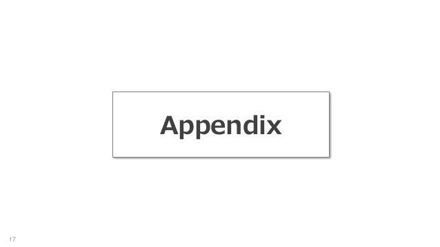 17 Appendix