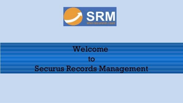 Securus records management corporate presentation