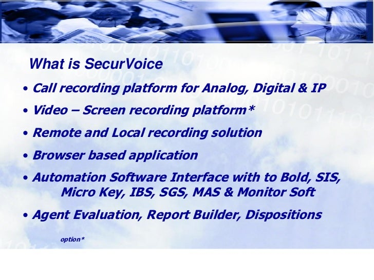 SecurVoice Call Recording Slide 3