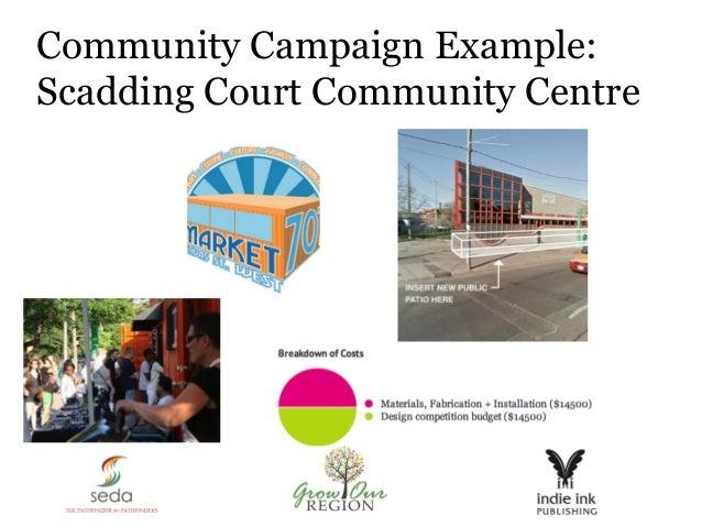 Community Campaign Example: Scadding Court Community Centre