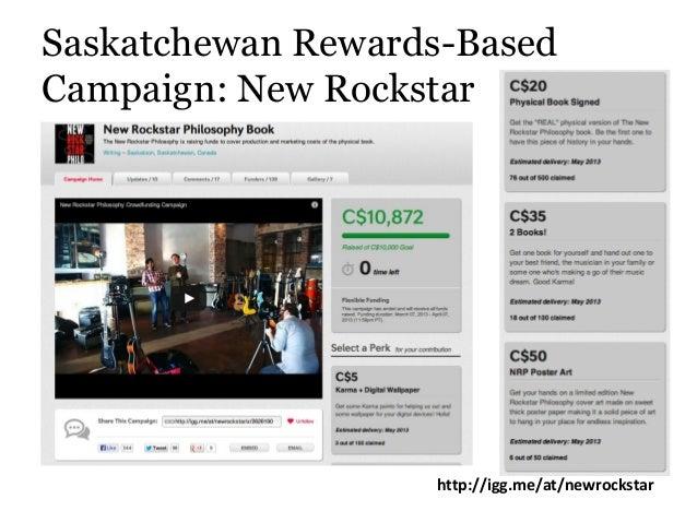 Saskatchewan Rewards-Based Campaign: New Rockstar http://igg.me/at/newrockstar