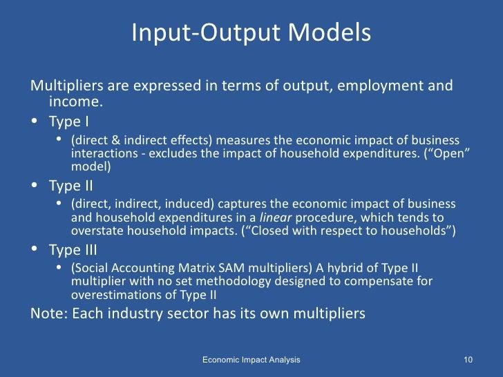 the basics of economic impact analysis