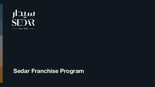 Sedar Franchise Program