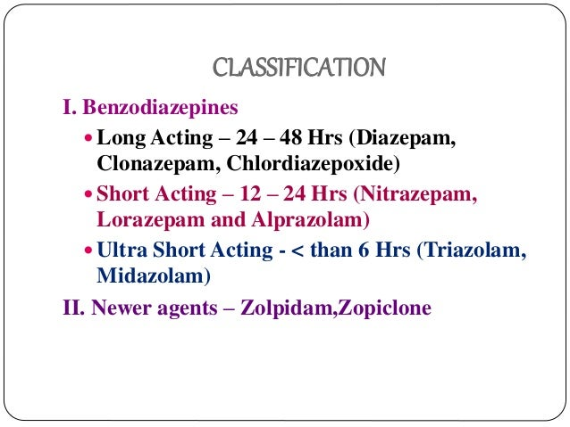 diazepam is what classification of drug